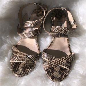Jimmy Choo Snakeskin Wedge Sandals